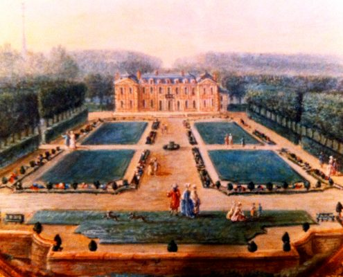 Miniature vue du parterre Château et jardins de Bretteville DR